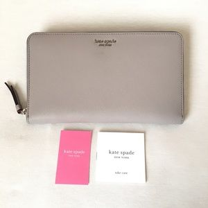 Kate Spade ♠️ Cameron XL Travel Wallet Leather